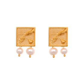 24K GOLD PLATED JEWELLERY BRASS WITH PEARLS