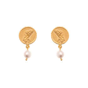 24K GOLD PLATED JEWELLERY BRASS WITH PEARL